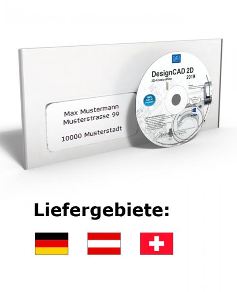 DesignCAD 2D 2019 (V28) Vollversion Datenträger + Lizenz