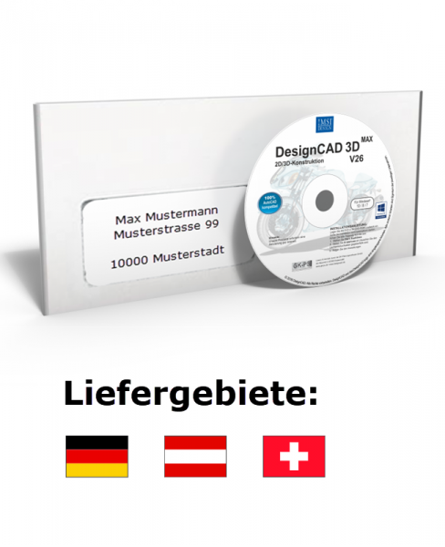 DesignCAD 3D MAX V26 Vollversion Datenträger + Lizenz