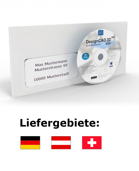DesignCAD 3D MAX 2020 (V29) UPGRADE Datenträger + Lizenz